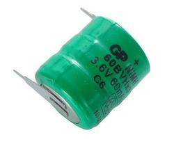Akumulator; Ni-Mh; GP60BVH3A2H-2; 3,6V; 60mAh; fi 15,2x18,5mm; 2 piny; GP Batteries; RoHS