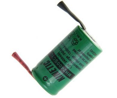 Akumulator; Ni-Mh; MH2400SC1L; 1,2V; 2400mAh; fi 22,2x42,6mm; 2 piny; do lutowania; Kinetic