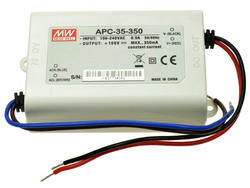 Zasilacz; do LED; APC-35-350; 28÷100V DC; 350mA; 35W; stałoprądowy; IP30; Mean Well