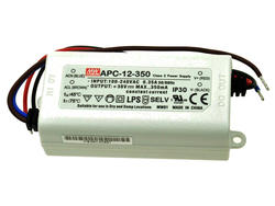 Zasilacz; do LED; APC-12-350; 9÷36V DC; 350mA; 12,6W; stałoprądowy; IP30; Mean Well