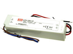 Zasilacz; do LED; LPV-100-12; 12V DC; 8,5A; 102W; stałonapięciowy; IP67; Mean Well