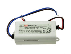 Zasilacz; do LED; APV-12-12; 12V DC; 1A; 12W; stałonapięciowy; IP30; Mean Well